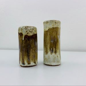 Studio Pottery Glazed Salt & Pepper Set